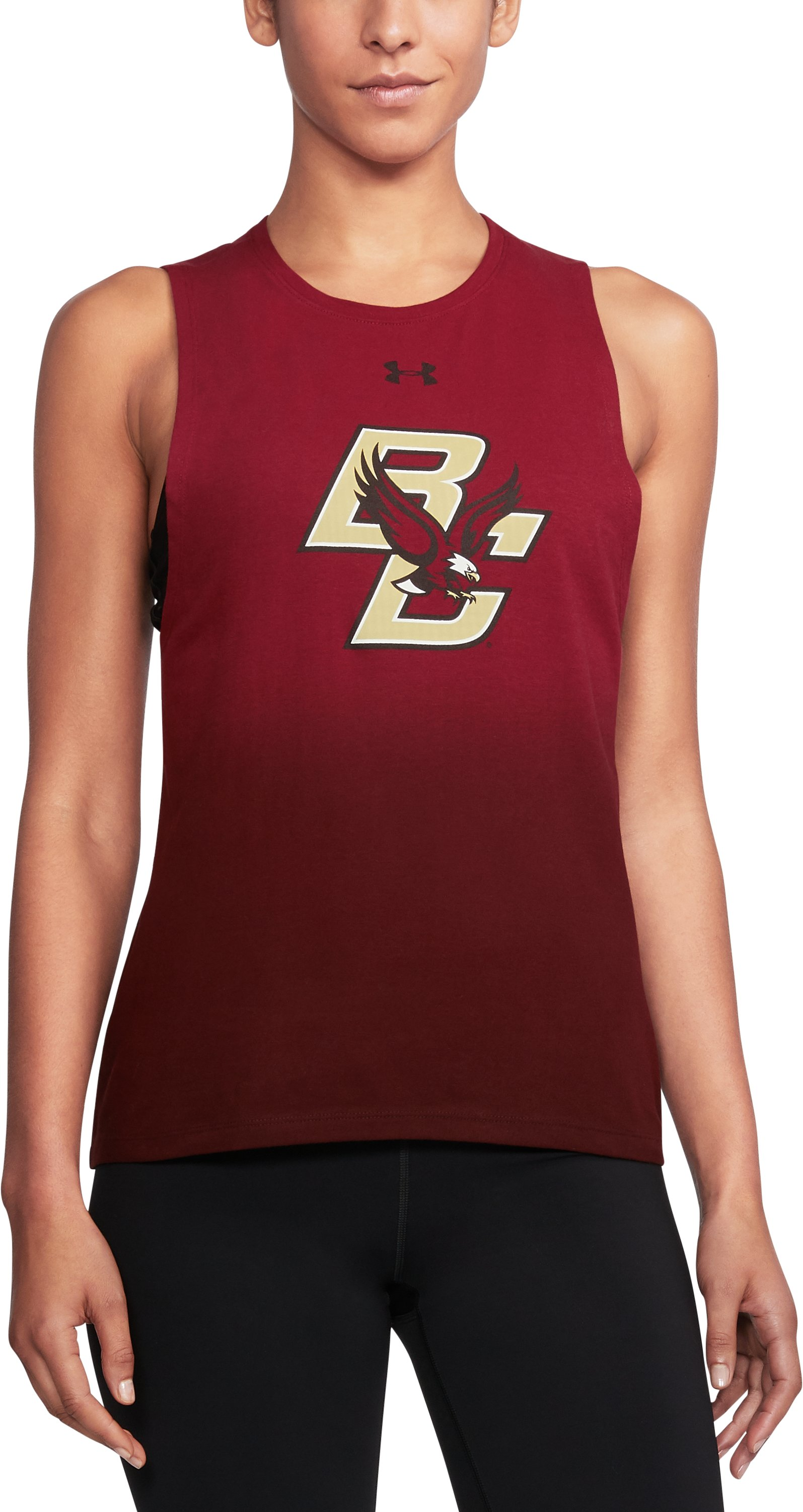 Women's Boston College UA Dip Dye Tank, Cardinal