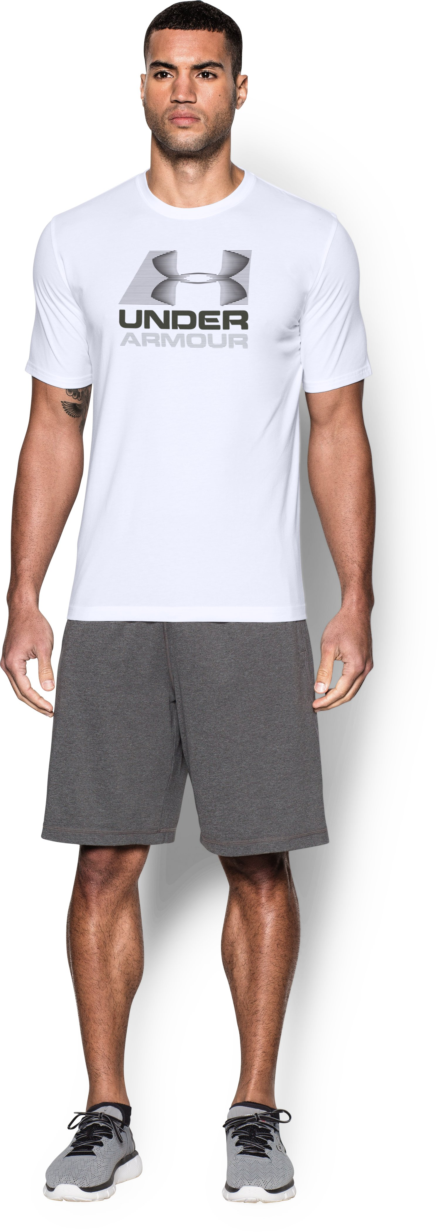 Men's UA Vanish T-Shirt, White, Front