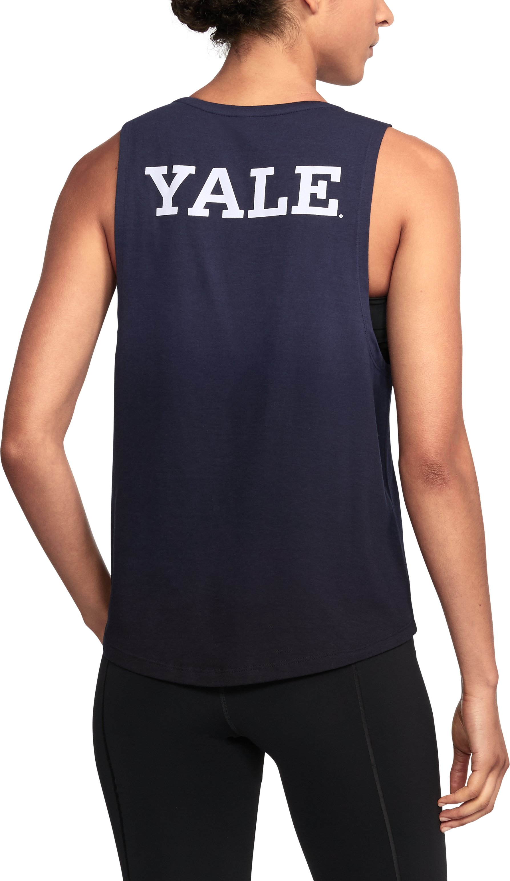 Women's Yale UA Dip Dye Tank, Midnight Navy,