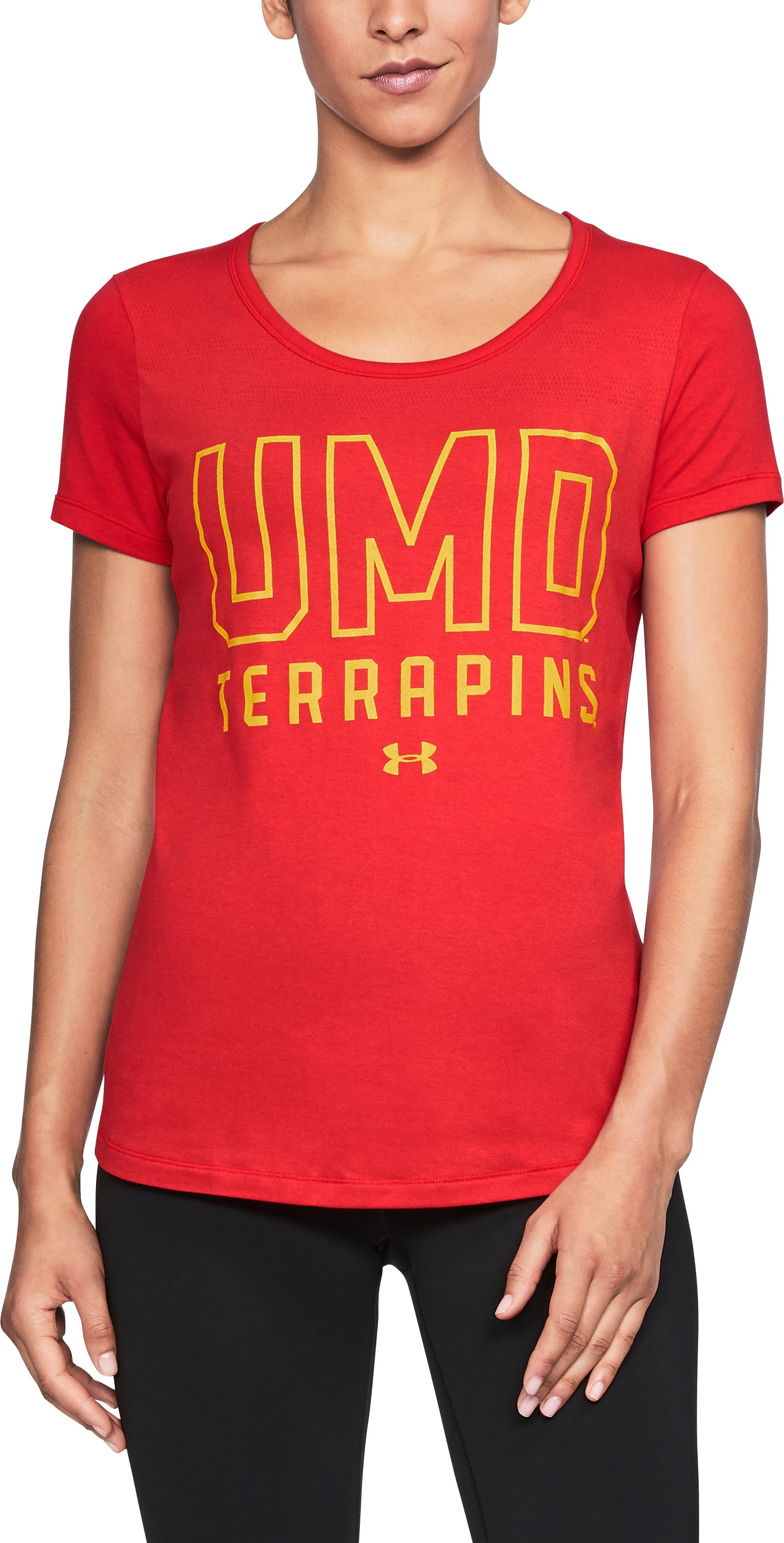 Women's Maryland UA Vent Short Sleeve T-Shirt-Shirt, Red,
