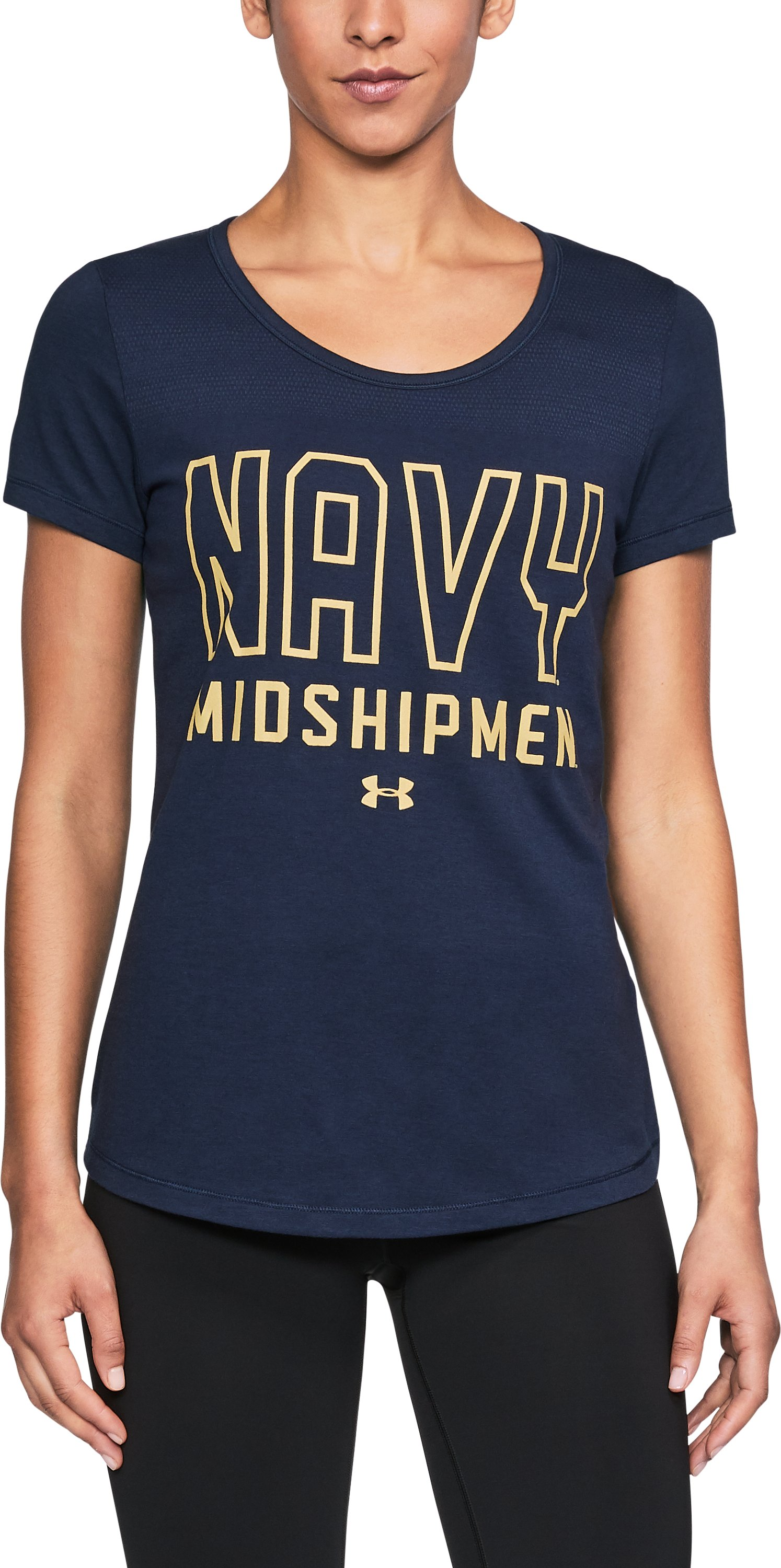 Women's Naval Academy UA Vent Short Sleeve T-Shirt-Shirt, Midnight Navy,