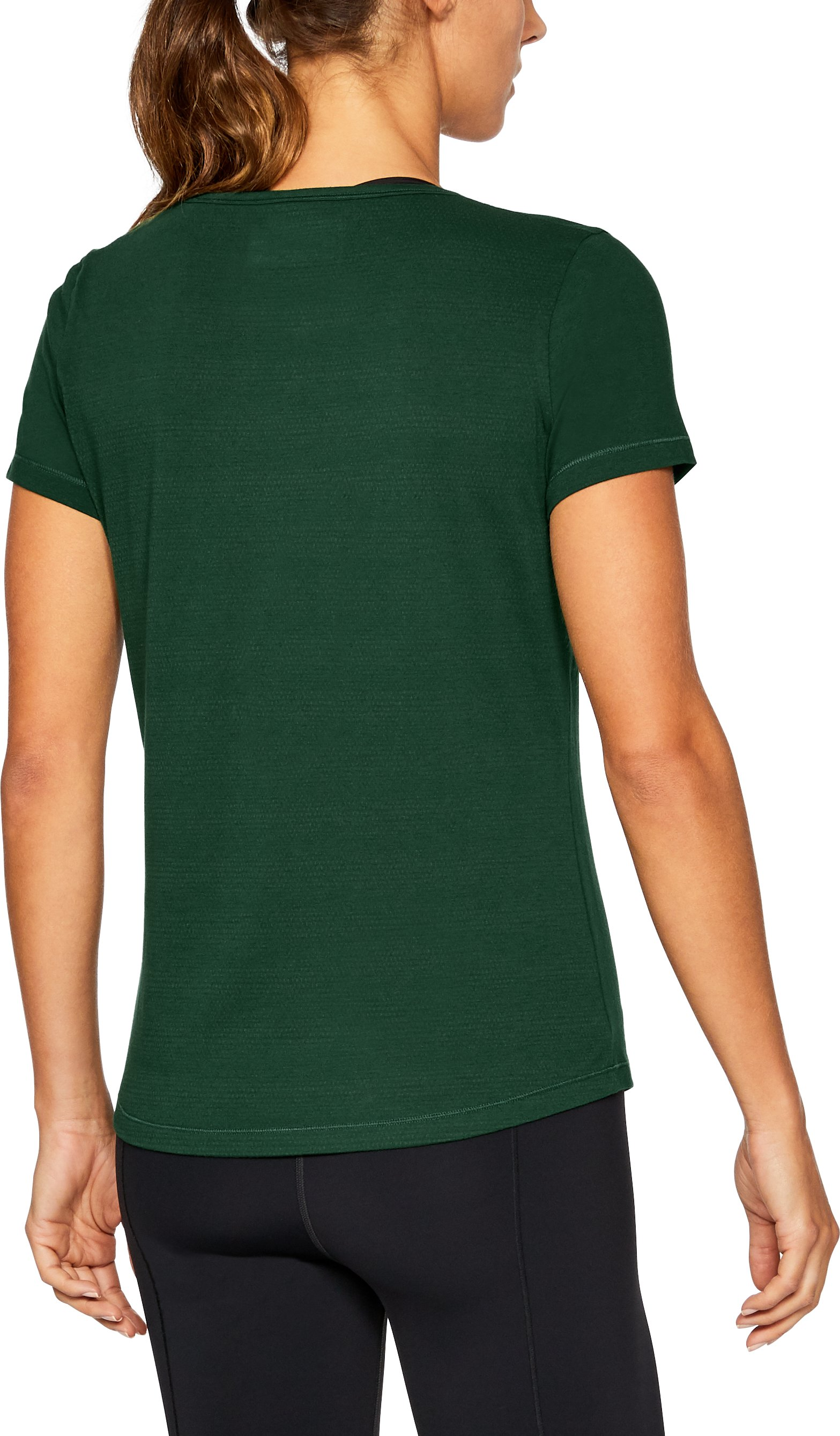 Women's South Florida UA Vent Short Sleeve T-Shirt, Forest Green
