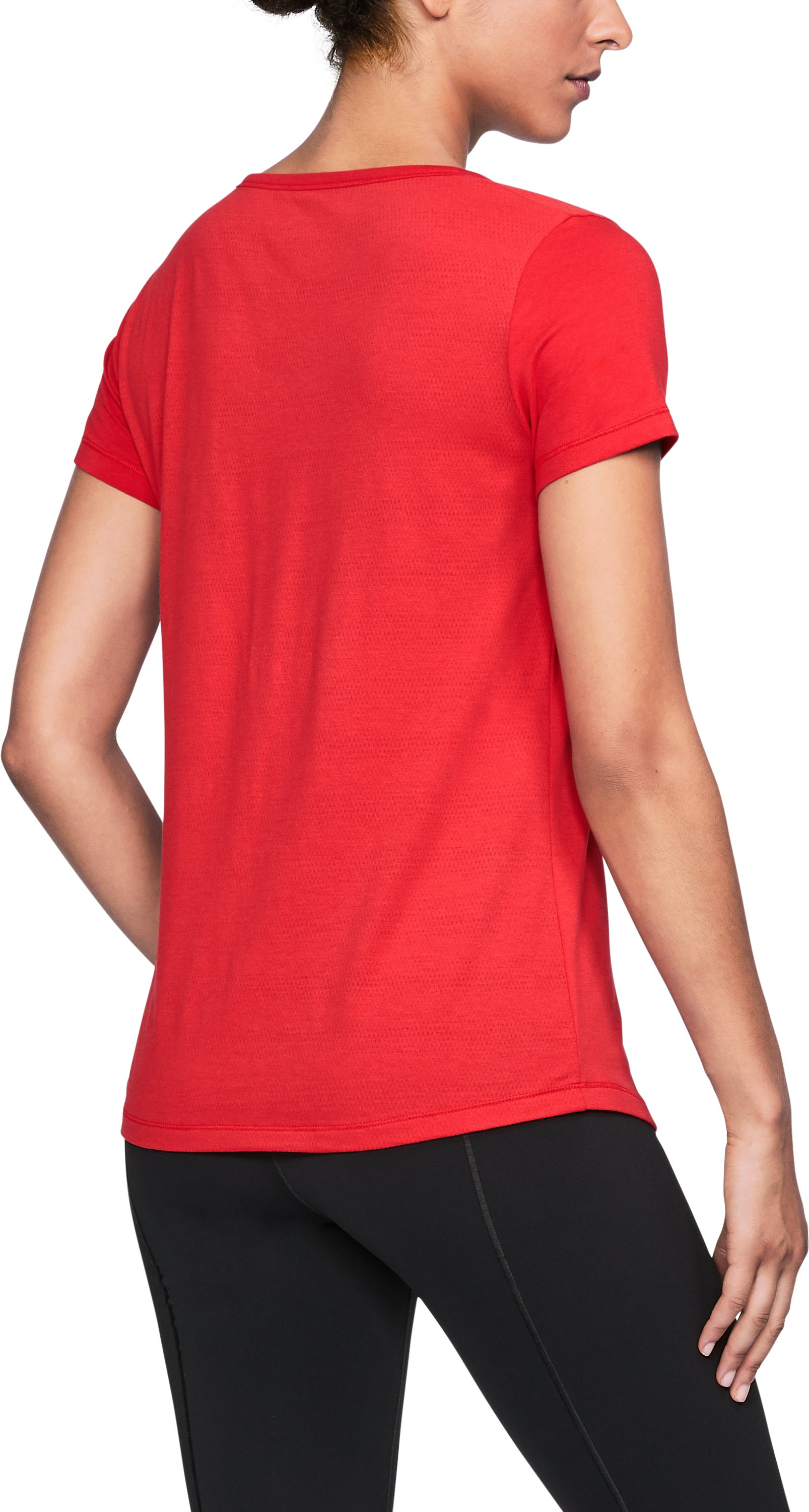 Women's St. John's UA Vent Short Sleeve T-Shirt, Red,