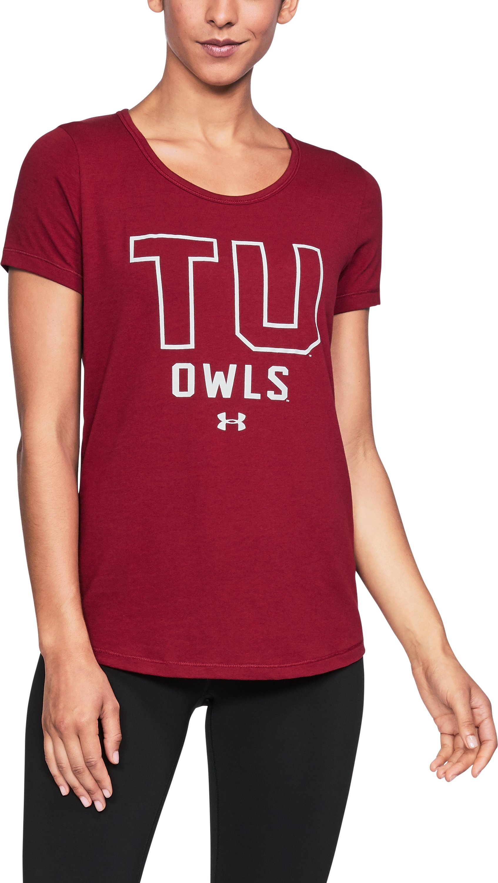 Women's Temple UA Vent Short Sleeve T-Shirt, Cardinal,