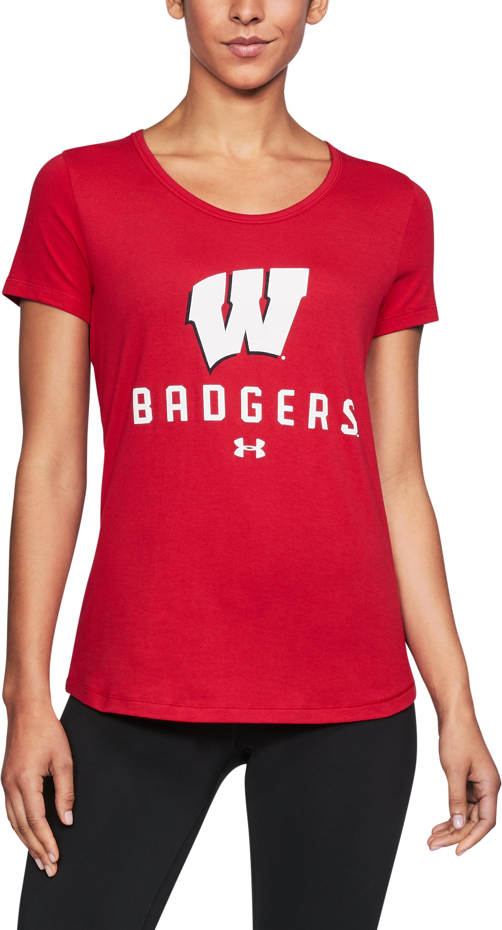 Women's Wisconsin UA Vent Short Sleeve T-Shirt, Flawless