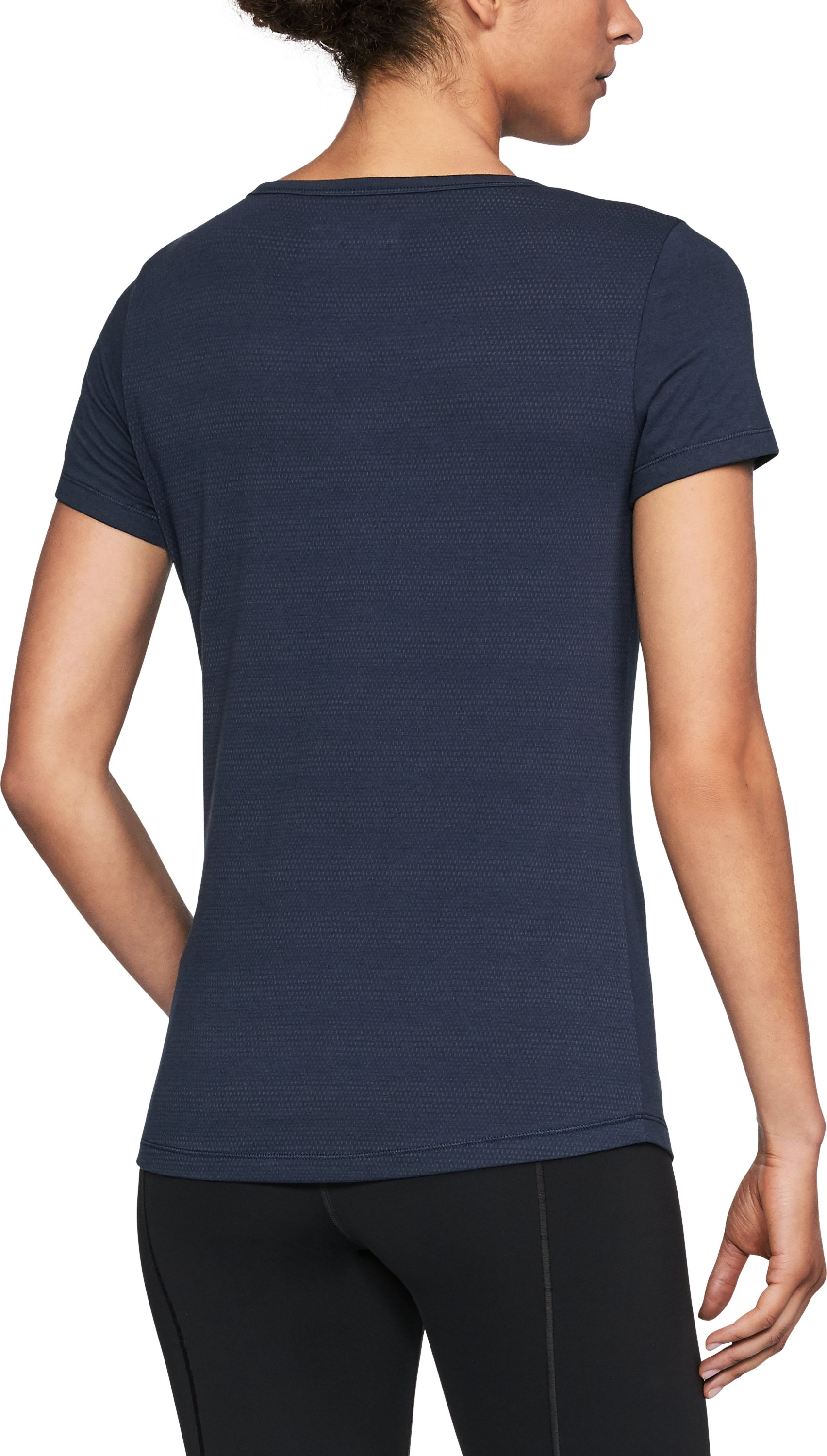 Women's Yale UA Vent Short Sleeve T-Shirt, Midnight Navy, undefined