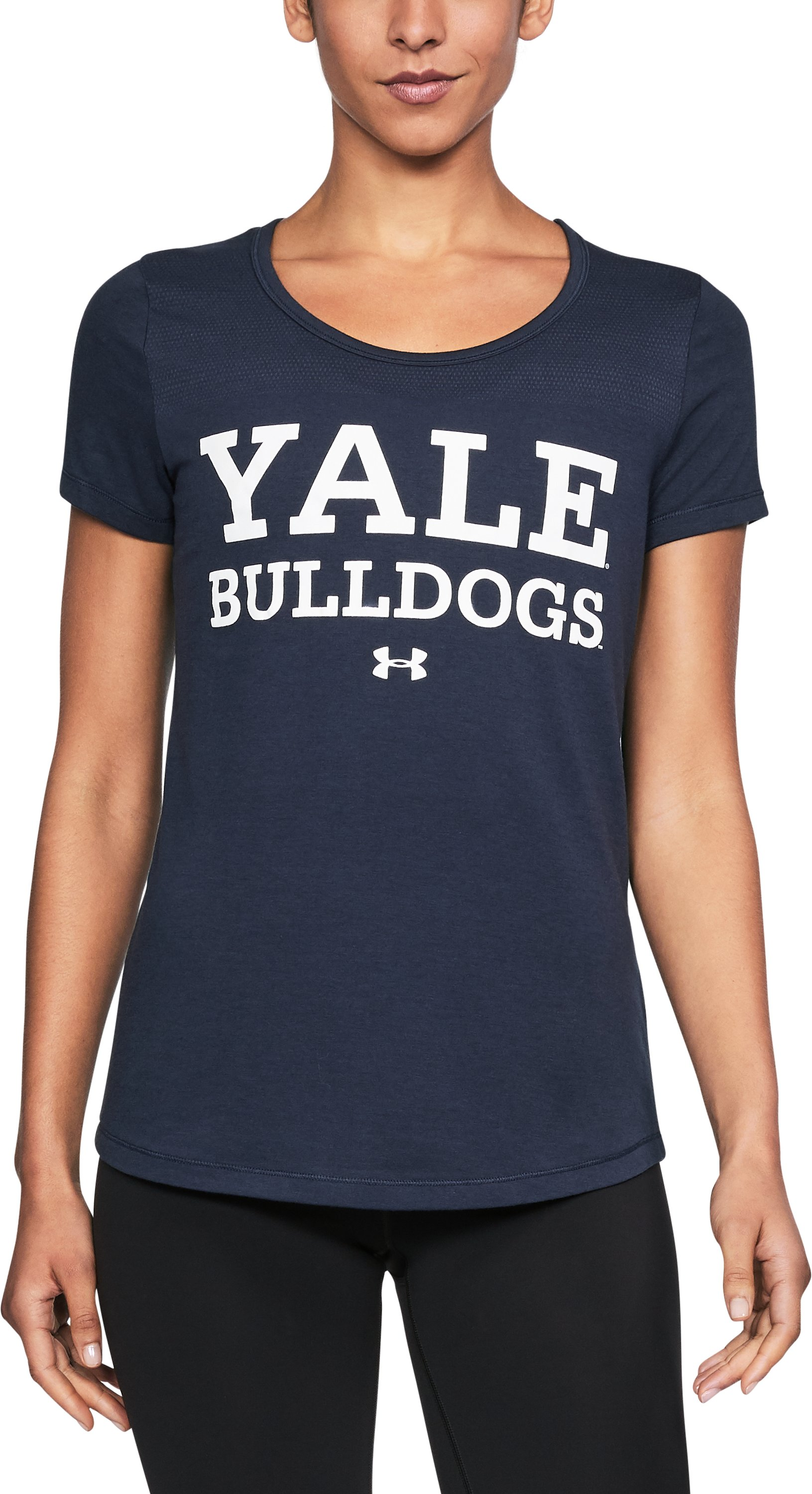 Women's Yale UA Vent Short Sleeve T-Shirt, Midnight Navy