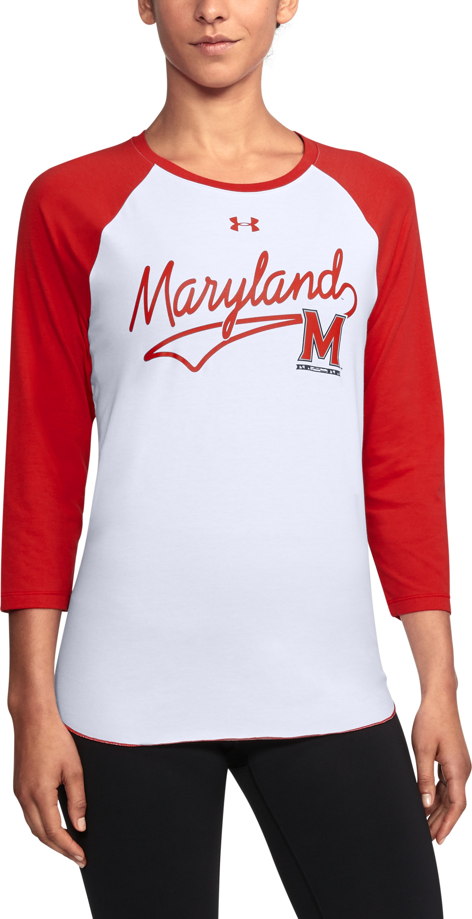 Women's UA Maryland Baseball T-Shirt, Red