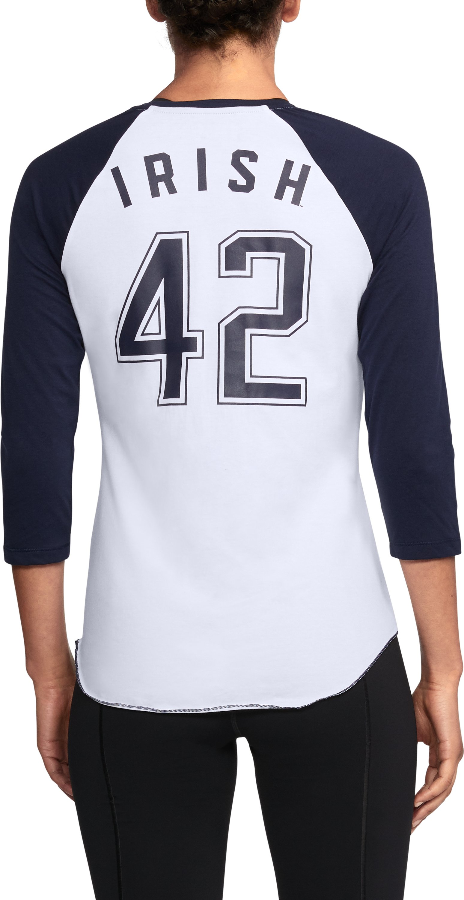 Women's Notre Dame Baseball T-Shirt, Midnight Navy,