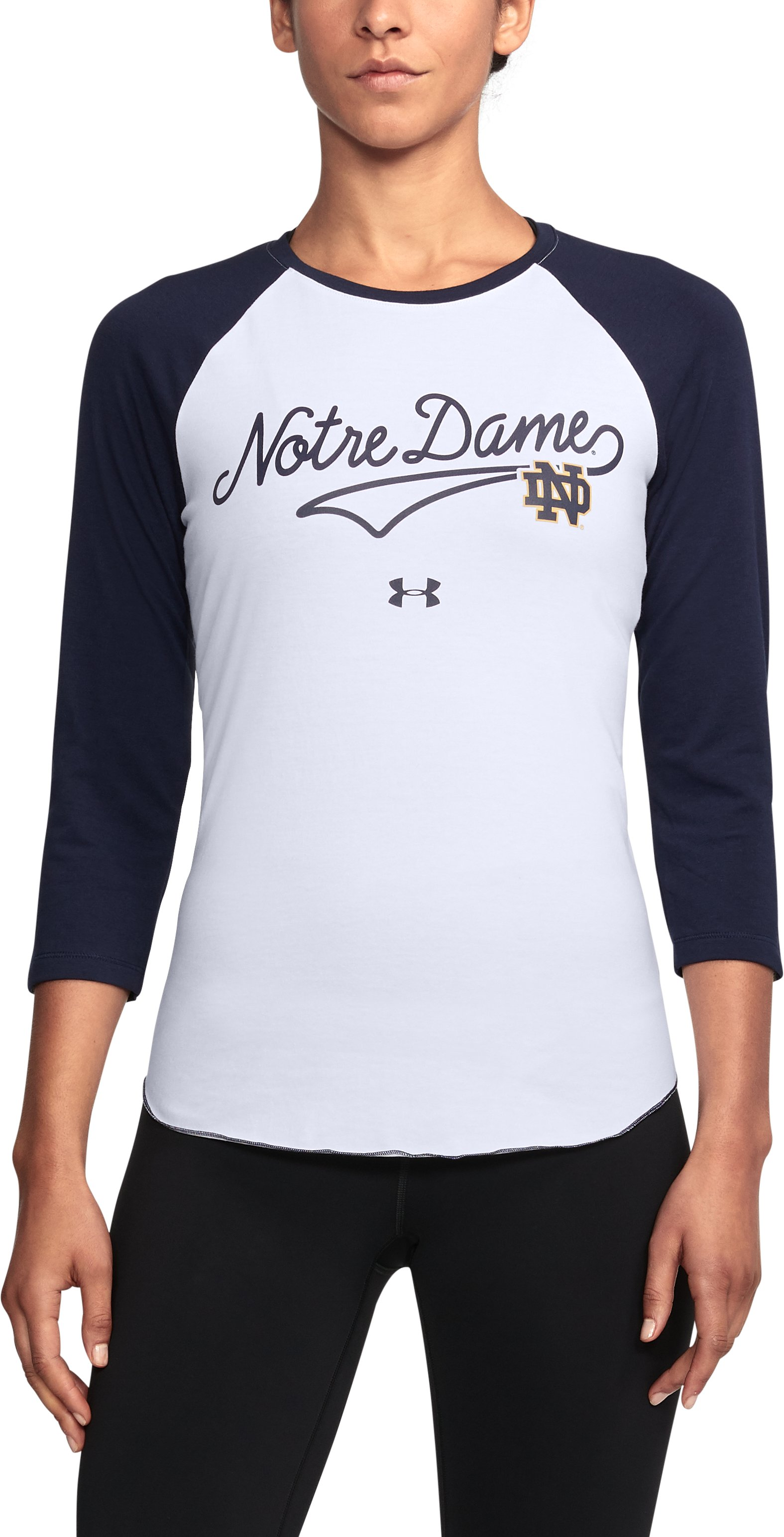 Women's Notre Dame Baseball T-Shirt, Midnight Navy