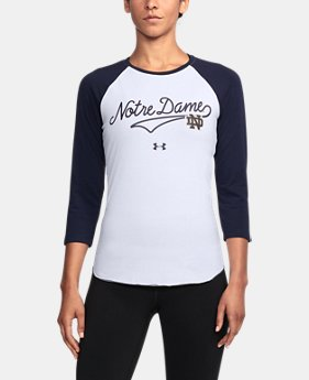 New to Outlet Women's Notre Dame Baseball T-Shirt  1  Color Available $32.99