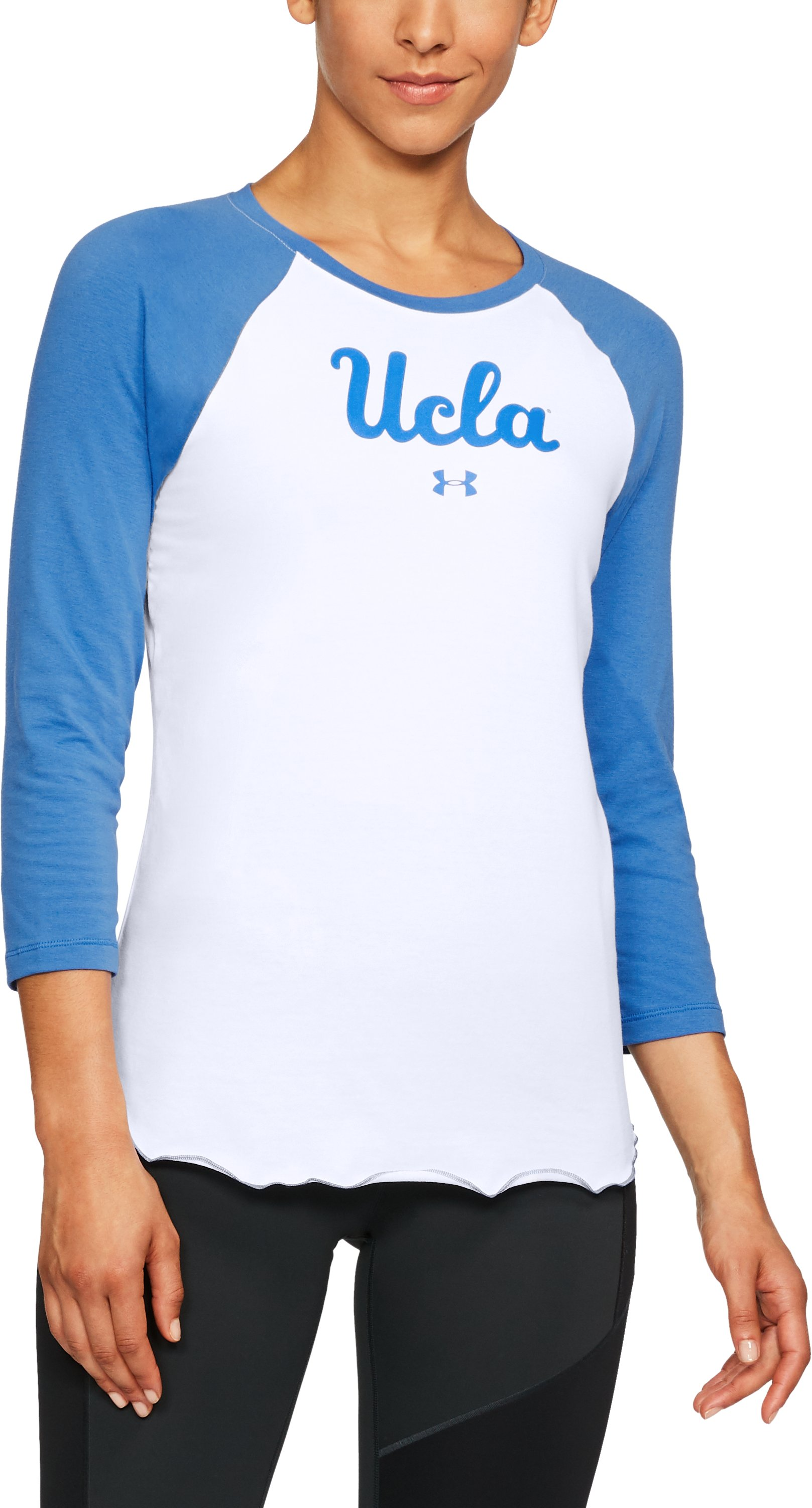 Women's UCLA Baseball T-Shirt, POWDERKEG BLUE