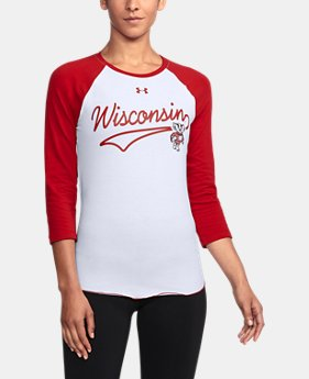 Women's Wisconsin Baseball T-Shirt  1  Color Available $32.99