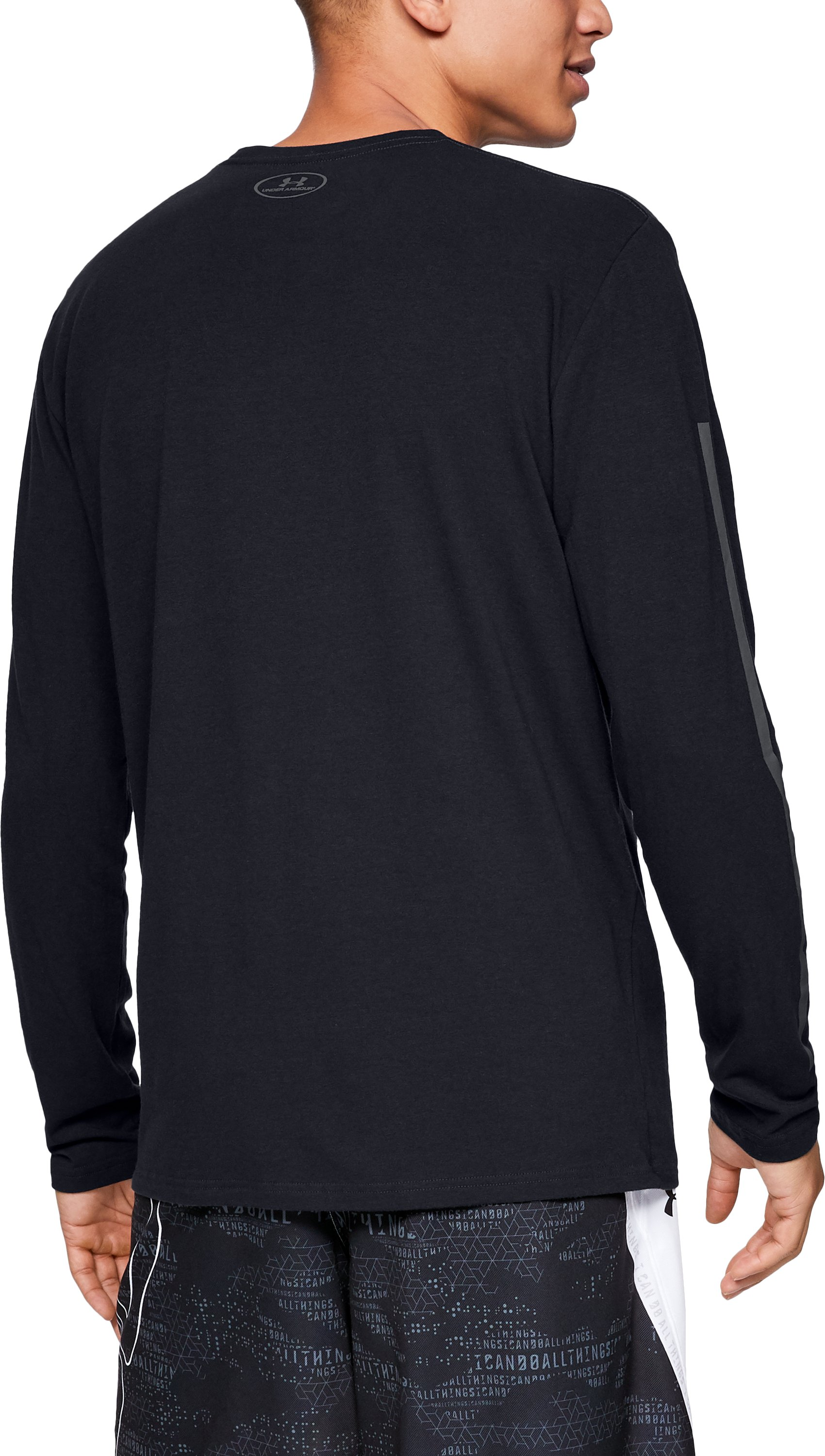 Men's SC30 3 The Hard Way Long Sleeve T-Shirt, Black ,