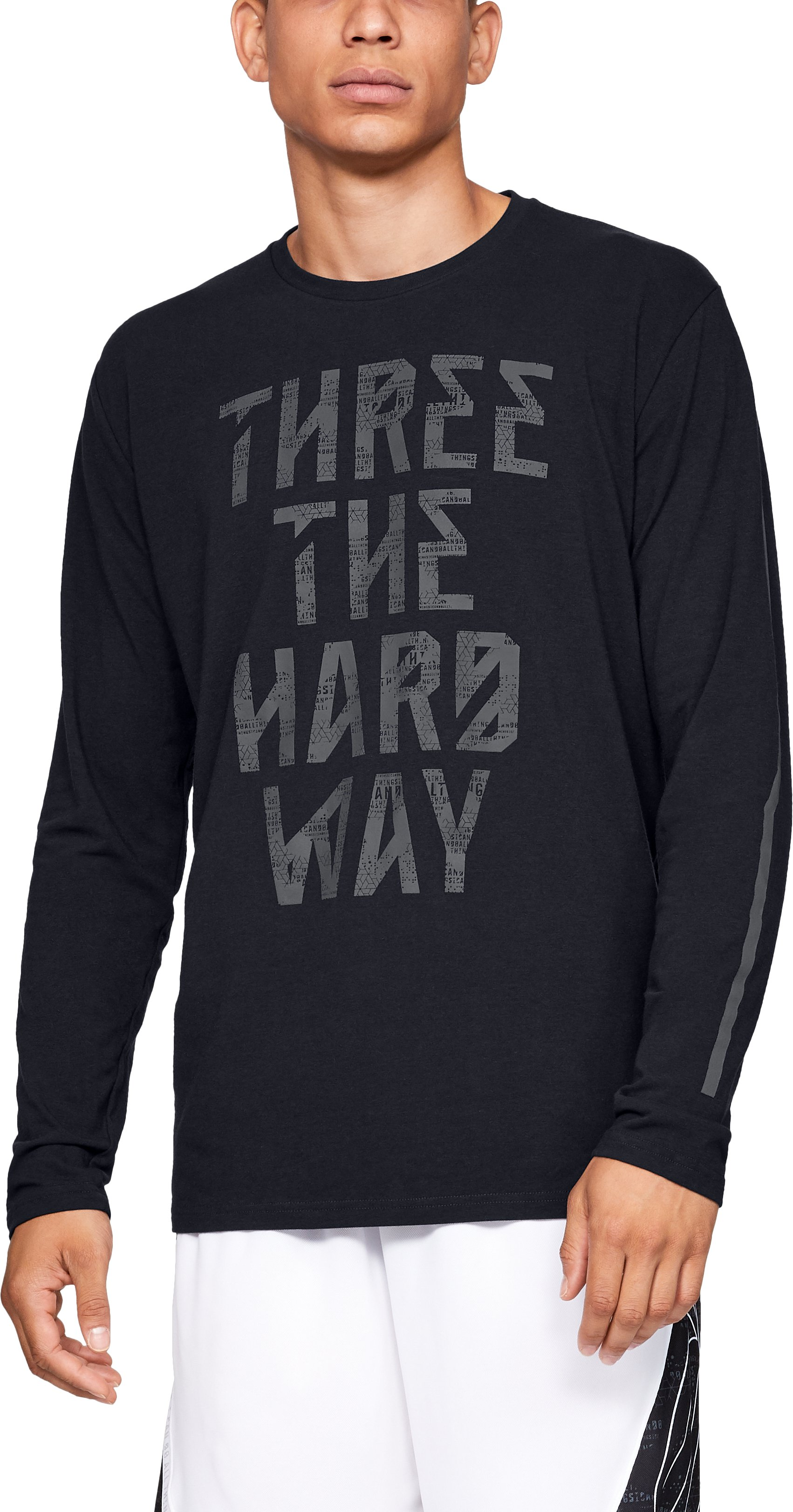 Men's SC30 3 The Hard Way Long Sleeve T-Shirt, Black