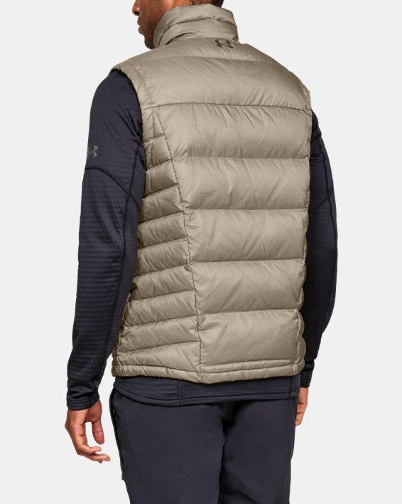Men's UA Outerbound Down Vest, Brown, pdpMainDesktop image number 2