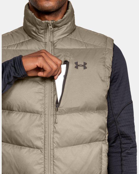Men's UA Outerbound Down Vest, Brown, pdpMainDesktop image number 5