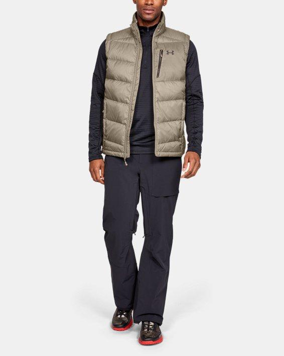 Men's UA Outerbound Down Vest, Brown, pdpMainDesktop image number 1