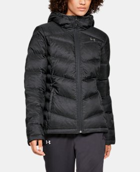 Women's UA Outerbound Down Hooded Jacket  2  Colors Available $300