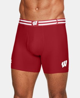 "Men's Wisconsin UA Original Series 6"" Boxerjock®  1  Color Available $20.99"