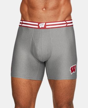 "New Arrival Men's Wisconsin UA Original Series 6"" Boxerjock®  1 Color $29.99"