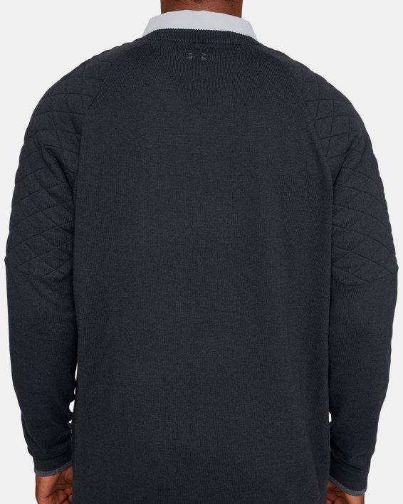 Men's UA Threadborne Hybrid V-neck, Black, pdpMainDesktop image number 6