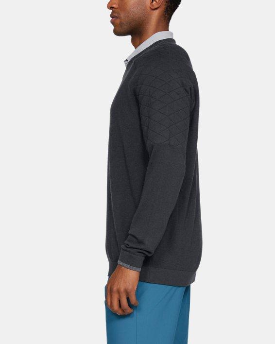 Men's UA Threadborne Hybrid V-neck, Black, pdpMainDesktop image number 3