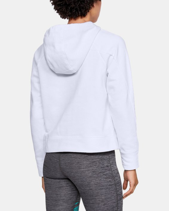 Women's ColdGear® Infrared Slouchy Neck Hoodie, White, pdpMainDesktop image number 2