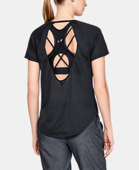 Women's UA Whisperlight Strappy Back Short Sleeve  1  Color Available $35