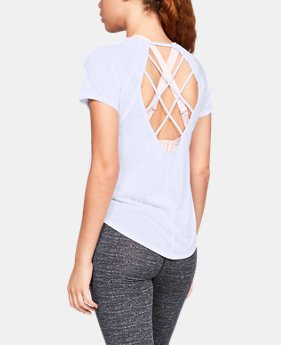 New Arrival  Women's UA Whisperlight Strappy Back Short Sleeve  1  Color Available $45