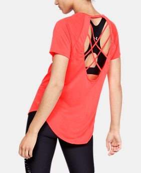 New Arrival Women's UA Loose Fashion Strappy Back Short Sleeve FREE U.S. SHIPPING 1  Color Available $35