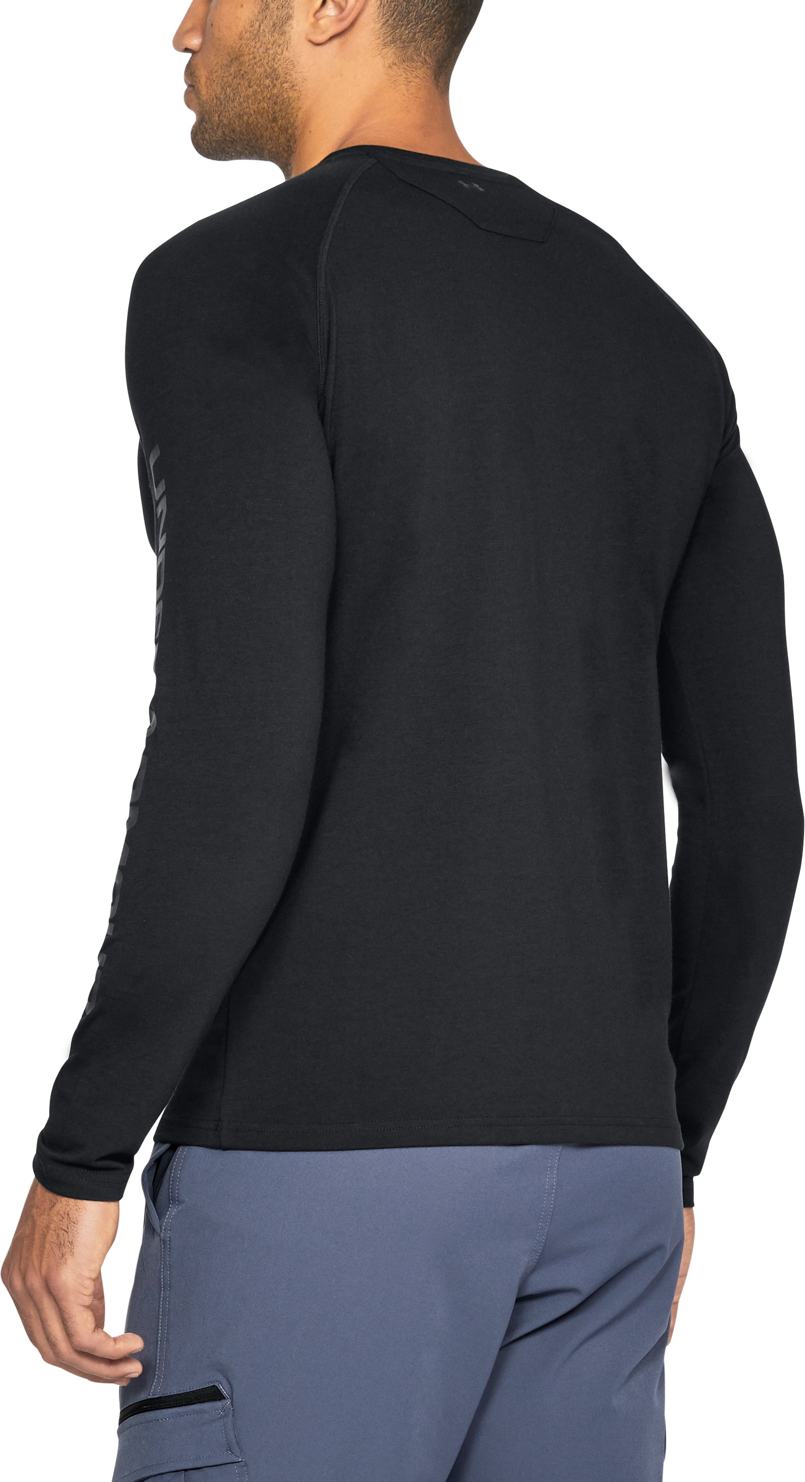 Men's UA Unstoppable Logo Long Sleeve T-Shirt, Black ,