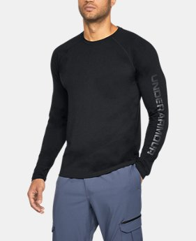 Men's UA Unstoppable Logo Long Sleeve T-Shirt  1 Color $44.99