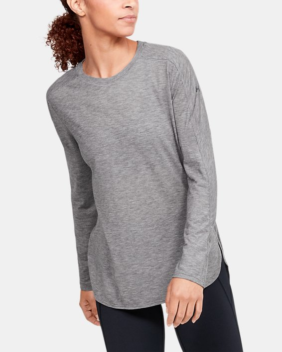 Women's UA Breathe Long Sleeve, Black, pdpMainDesktop image number 2
