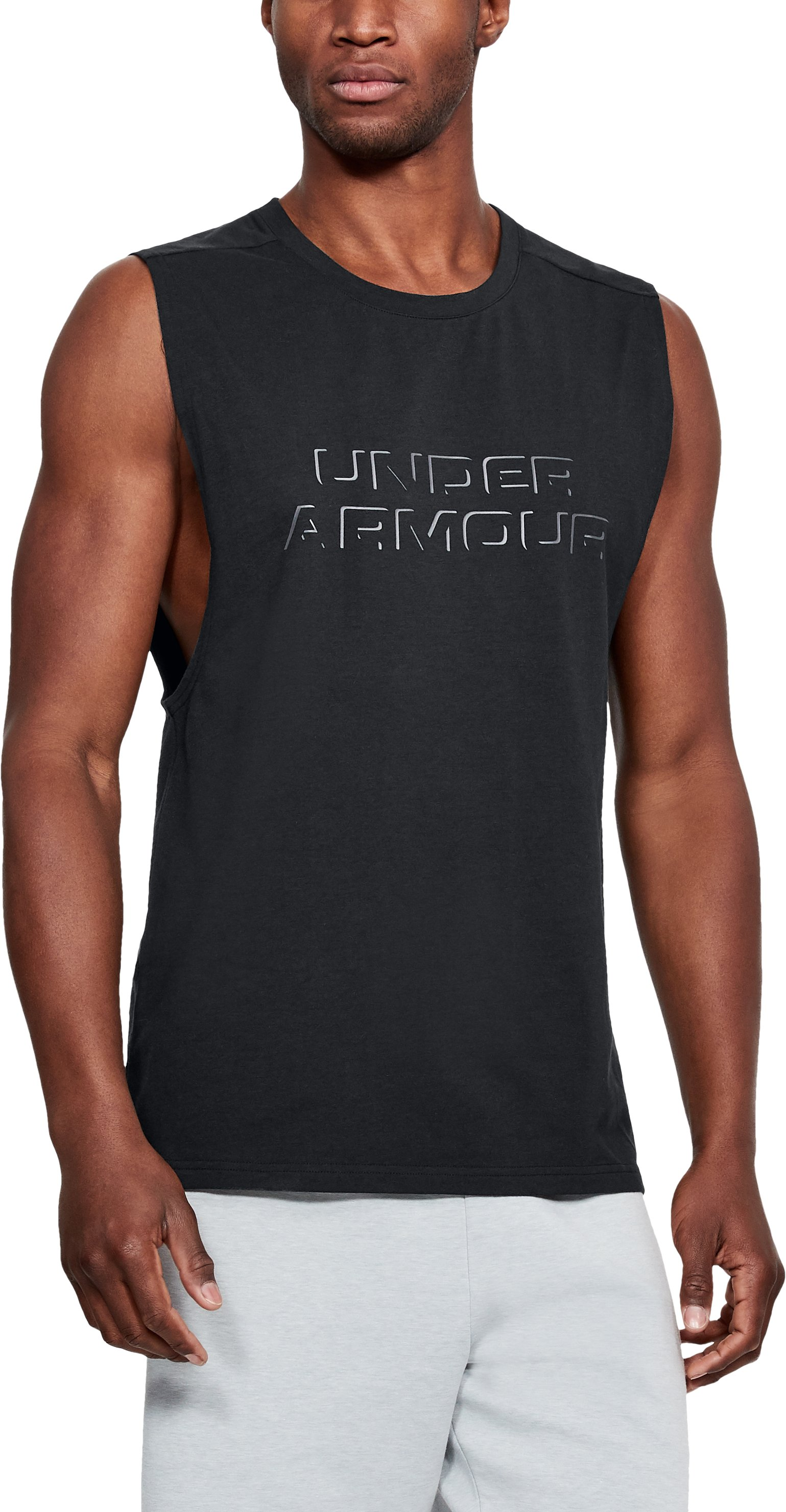 Unstoppable Muscle Tank, Black , zoomed