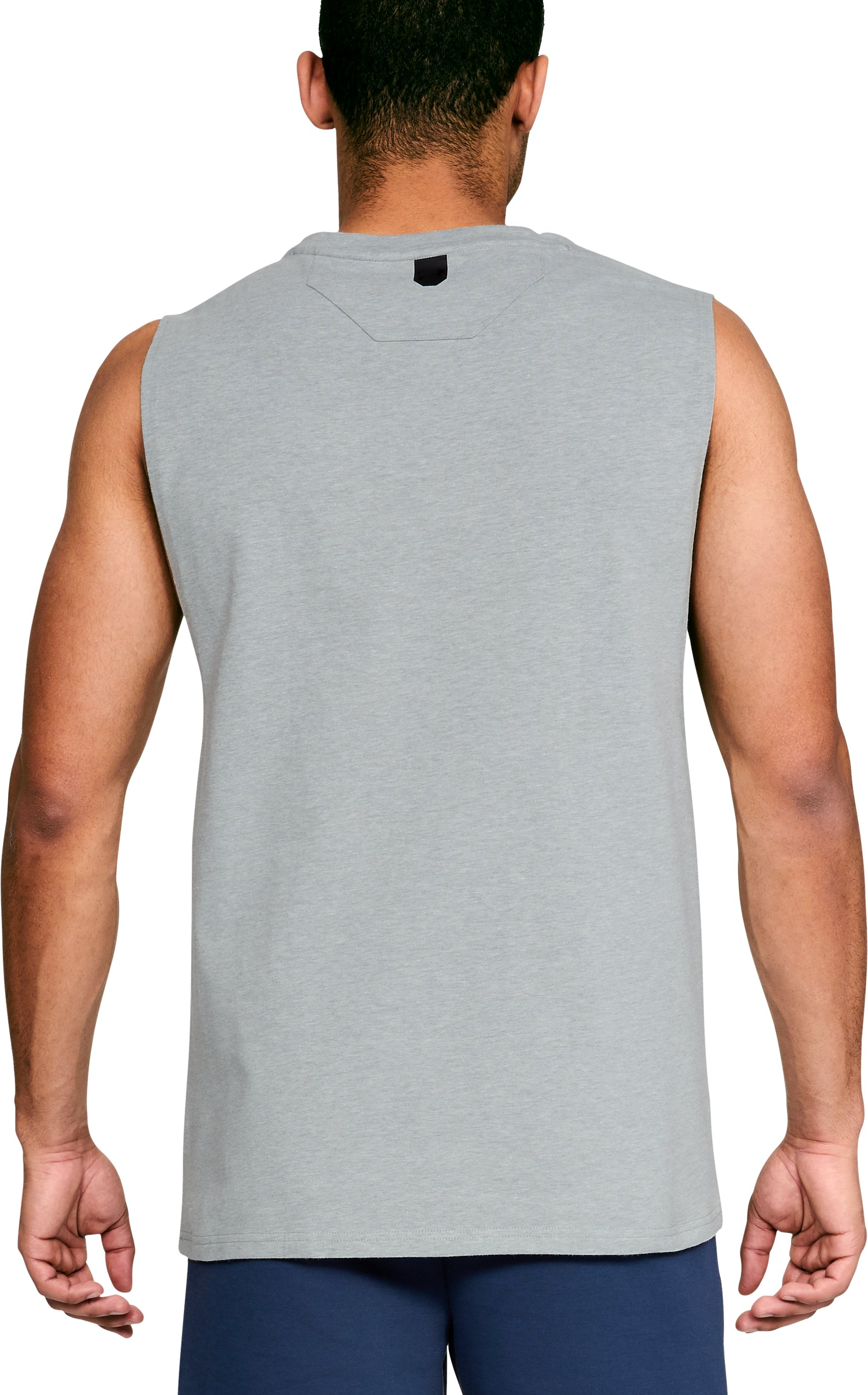 Men's UA Unstoppable Muscle Tank, True Gray Heather,