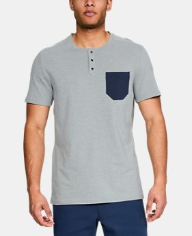 Men's UA Unstoppable Short Sleeve Henley FREE U.S. SHIPPING 1  Color Available $40
