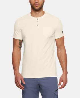 New Arrival Men's UA Unstoppable Short Sleeve Henley  1 Color $40