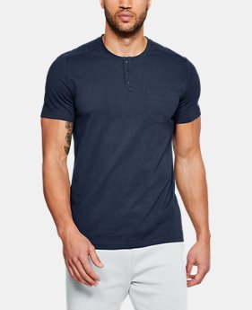 Men's UA Unstoppable Short Sleeve Henley FREE U.S. SHIPPING 5  Colors Available $40