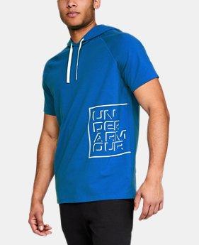 Men's UA Unstoppable Short Sleeve Hoodie  1  Color Available $45