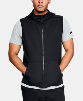 New Arrival Men's UA Unstoppable Knit Sleeveless Full Zip  3  Colors Available $70