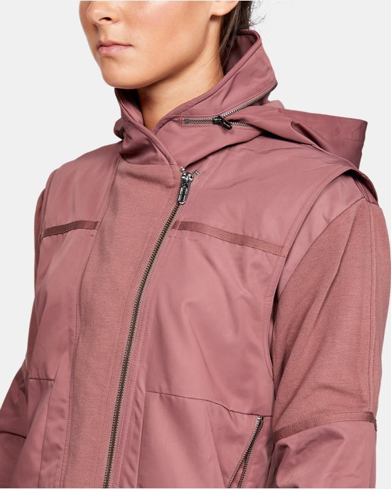 Women's UA Generation Jacket, Brown, pdpMainDesktop image number 6
