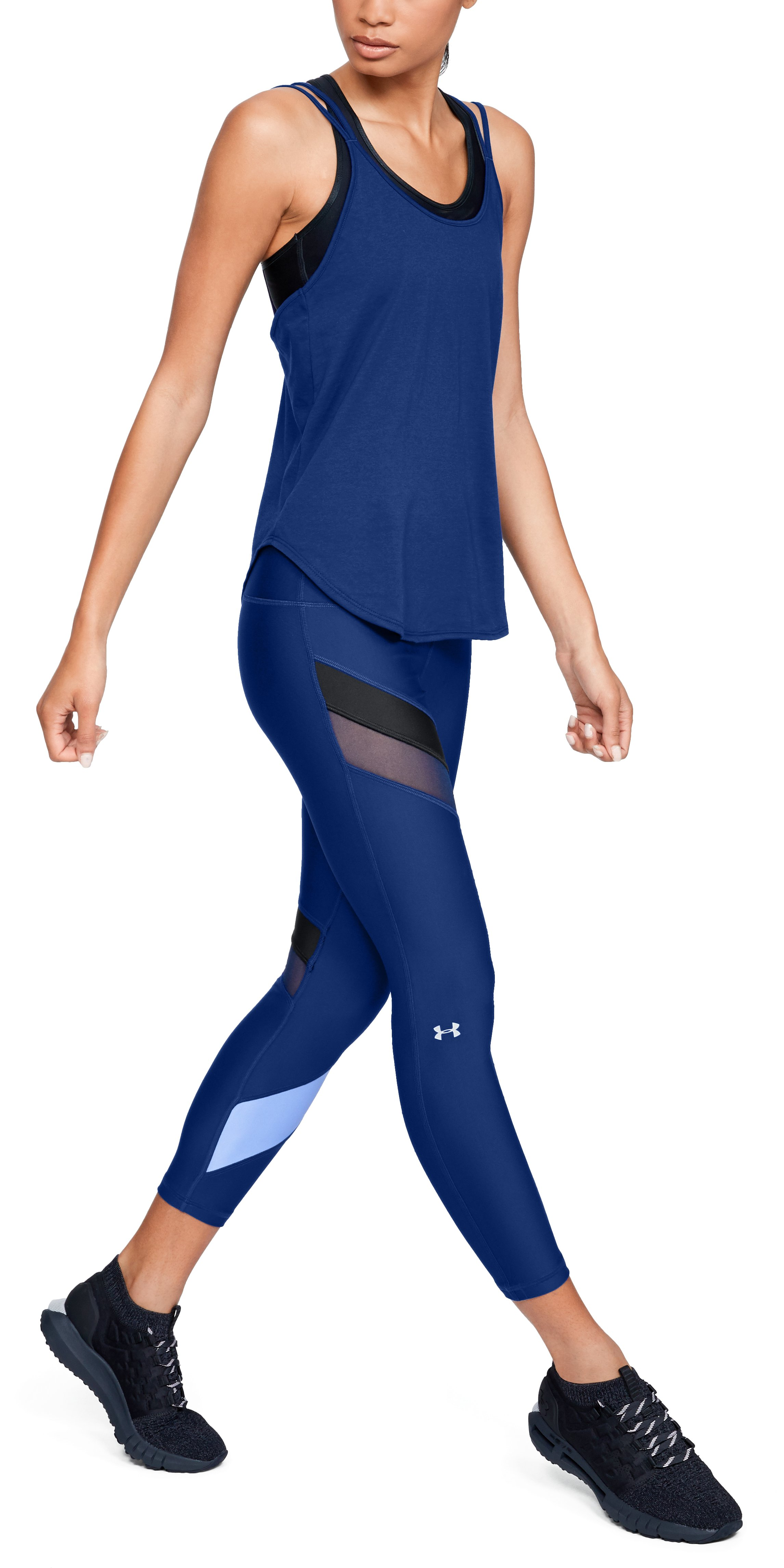 Women's HeatGear® Armour Fashion Ankle Crop, Formation Blue,