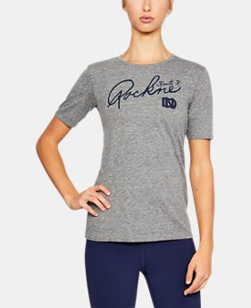 Women's Notre Dame UA Tri-Blend T-Shirt  1  Color Available $26.99