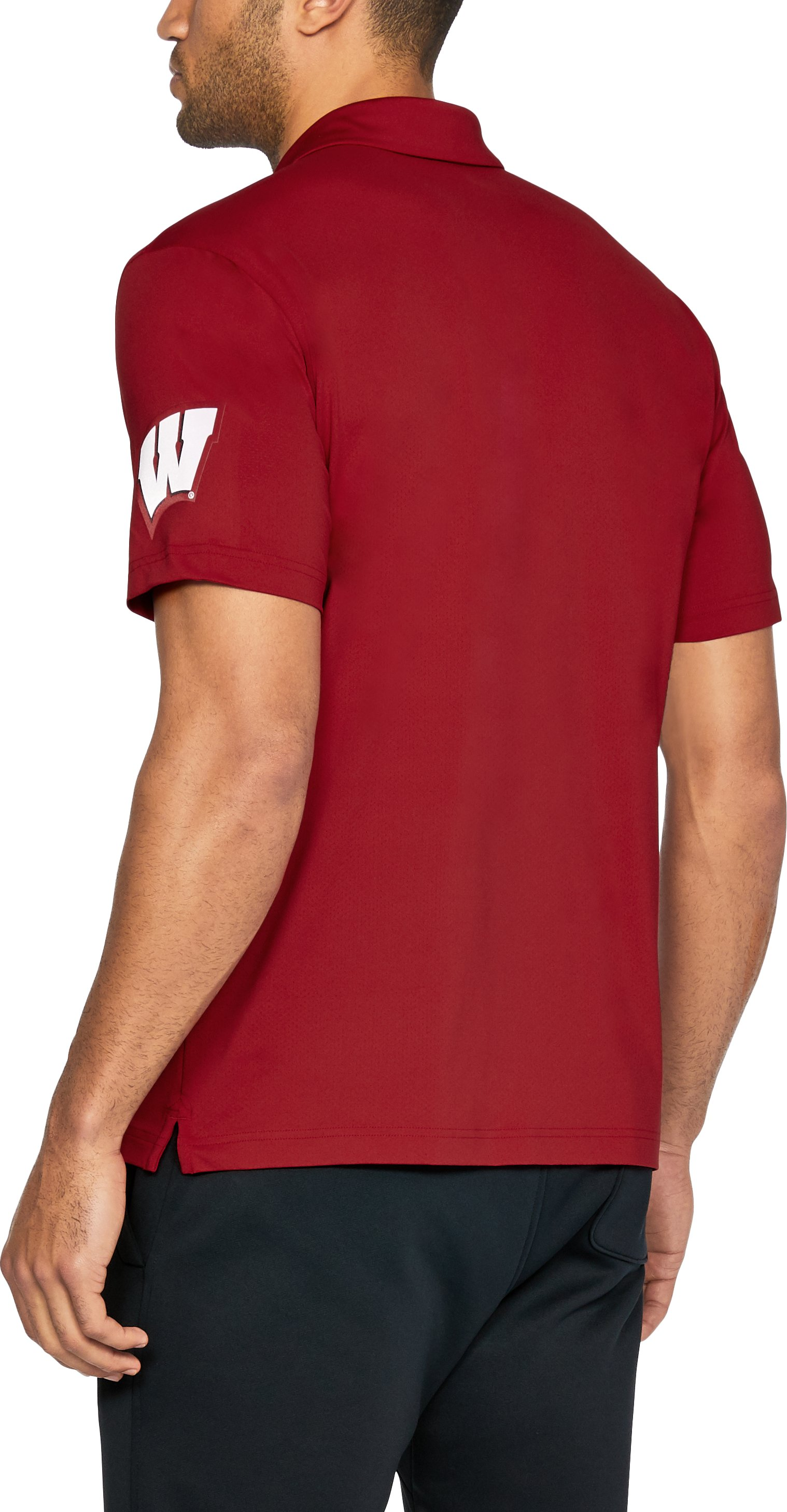 Men's Wisconsin UA Playoff Vented Polo, Flawless,