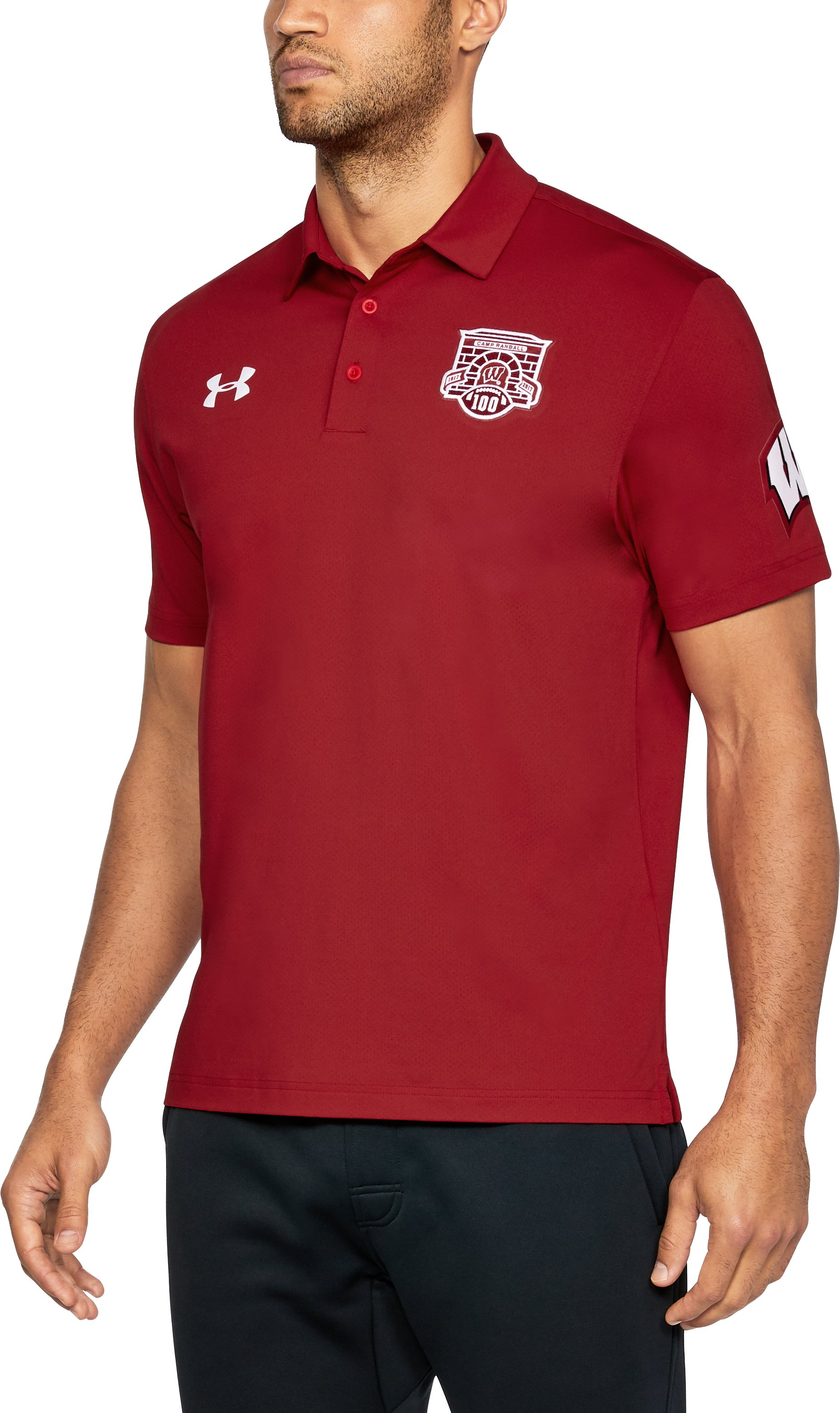 Men's Wisconsin UA Playoff Vented Polo, Flawless