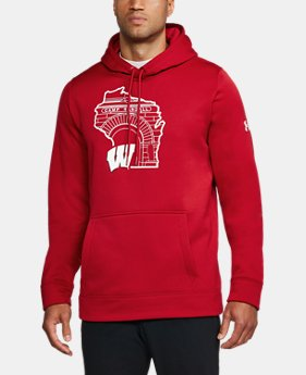 New Arrival Men's Wisconsin Armour® Fleece Hoodie  1 Color $99.99
