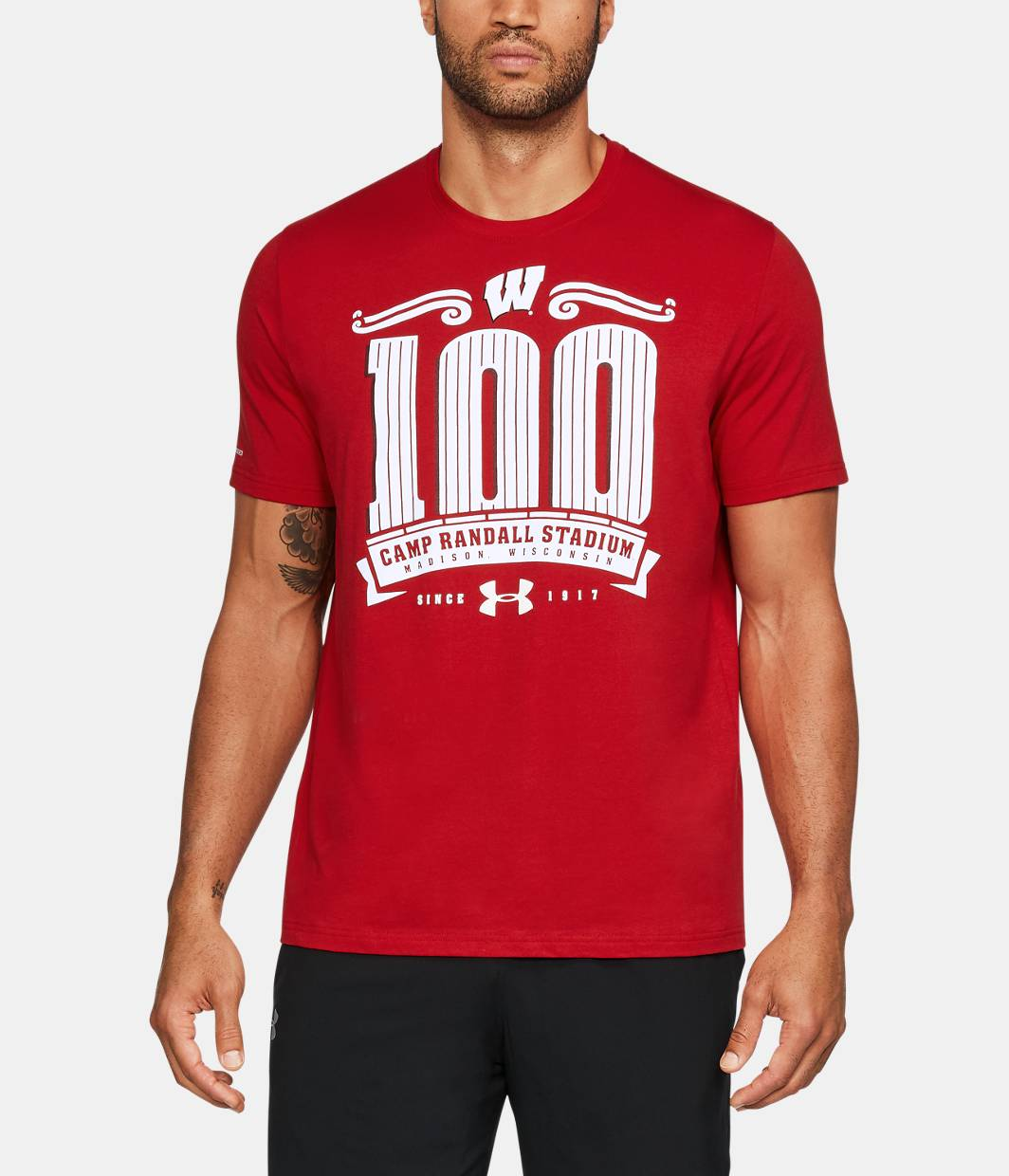 Men 39 S Wisconsin Cr 100 Charged Cotton T Shirt Under