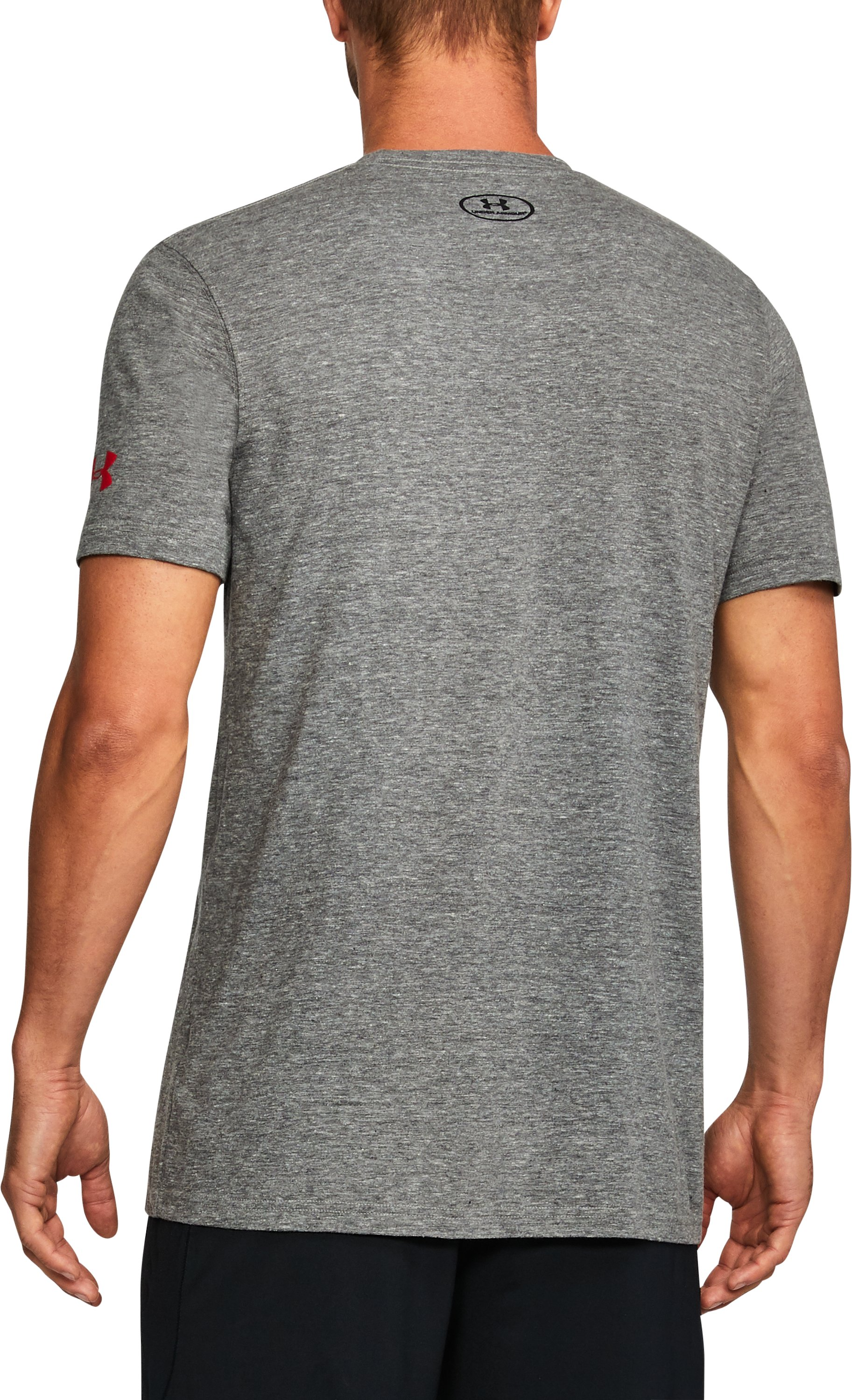Men's Wisconsin State UA Tri-Blend T-Shirt, LEGACY GRAY HEATHER,