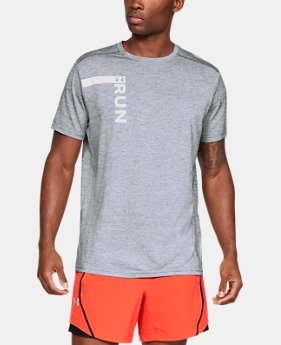New Arrival  Men's UA Run Tall Graphic T-Shirt  1  Color Available $45